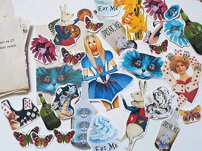 100 Vintage Fantasy Alice in wonderland Scrapbooking Junk Journal Paper Craft