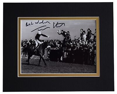 Tommy Stack Signed Autograph 10x8 photo display Red Rum Grand National COA