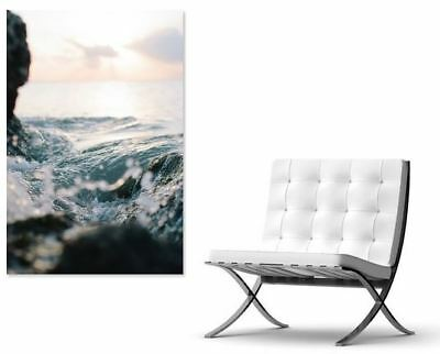 LOVING BEST BEACH SCENERY  Framed Canvas home wall Picture Art choose your size