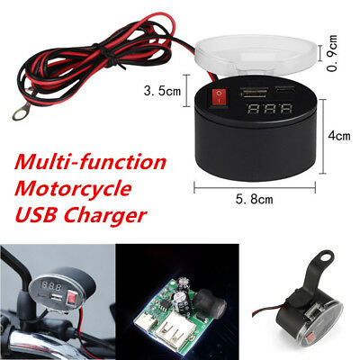 Multi-function Motorcycle USB Charger Kits Universal for all 12V Motorcycles ATV