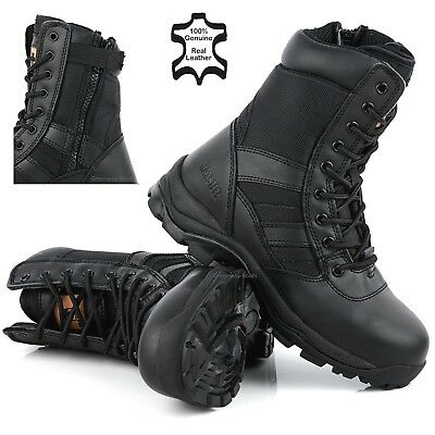 Mens Combat NON-SAFETY Army Hiking Tactical Walking Military Leather Boots Size