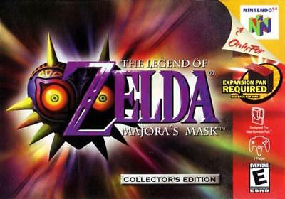 The Legend of Zelda: Majora's Mask Holo - Authentic Nintendo 64 N64 *CLEANED*