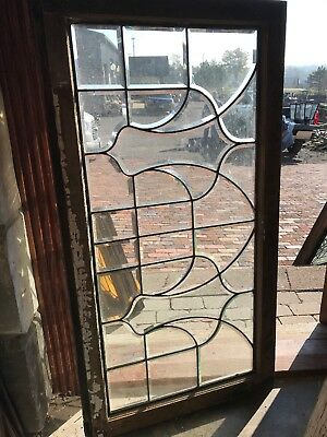 Sg 2592 antique all beveled glass transom window 24.25 x 46.5
