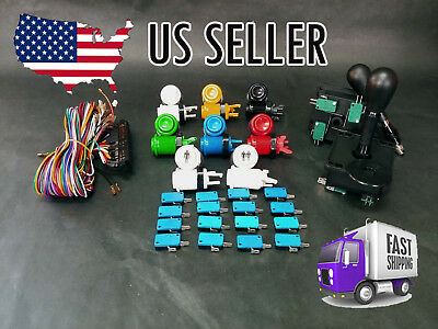 Bar top arcade parts build kit MAME Happ 2 4/8 joysticks 16 buttons, jamma cable