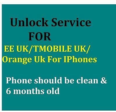 Unlock Service For CORPORATE FOR EE TMOBILE UK FOR  IPHONE XR 6S 6+ 6S 7 7+ 8 X