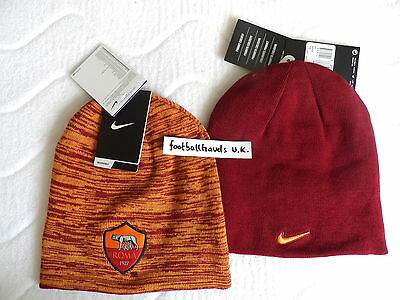 e6900910cef AS ROMA NIKE Reversible BEANIE football soccer calcio TAGS hat toque Italy