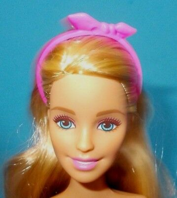 2017 Barbie Fashionistas Doll Hair Piece Pink Bow Headband Accessory Only