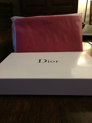 CD Dior Beauty Cosmetic Makeup Patent Bag Pouch Clutch Trousse Purse Red