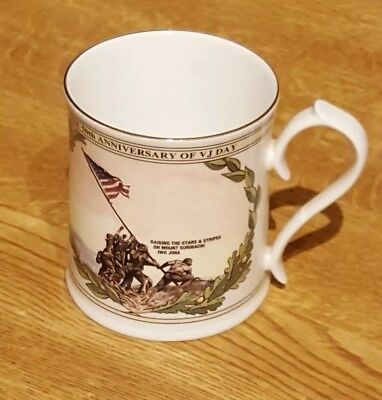 50th ANNIVERSARY OF VICTORY JAPAN DAY AYNSLEY MUG. WW2 BURMA IWO JIMA FAR EAST