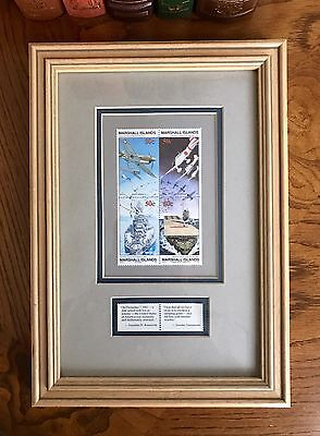 Marshall Islands Framed Block of Four 50¢ 'Japanese Attack Pearl Harbor' Stamps