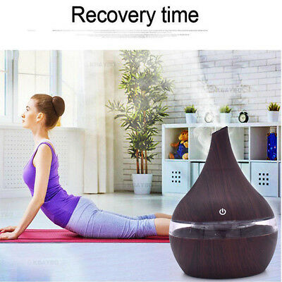 Ultrasonic Aroma Diffuser Essential Oil Humidifier Air/Aromatherapy Purifier LED