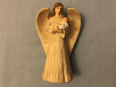 Touched By An Angel Statue Ornament, Baby Shower New Baby Christening Gift, BNIB