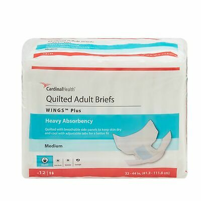 Wings HEAVY Absorbency Adult Diaper Brief MEDIUM Quilted 66033 96/Case