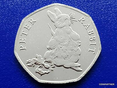 COLOURED PETER RABBIT 50p PENCE BEATRIX POTTER UNCIRCULATED COIN 2018