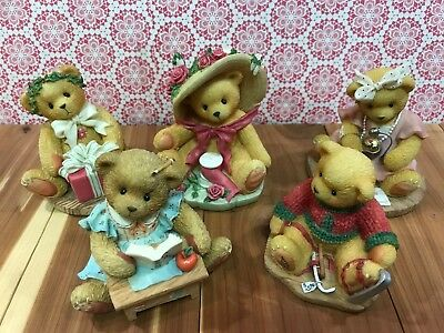Lot 2 Cherished Teddies Larger Size Avon Exclusive Priscilla Hillman Lot Of 5