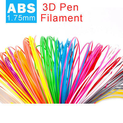 10 Pack x 10m ABS Filament 1.75mm For 3D Printer Printing Drawing Pen Kids Gift