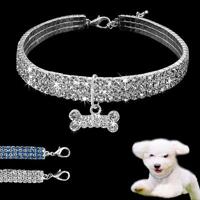 Cn _ Strass Chien Collier Col Strass & Pendentif pour Animaux Chiot Chihuahua