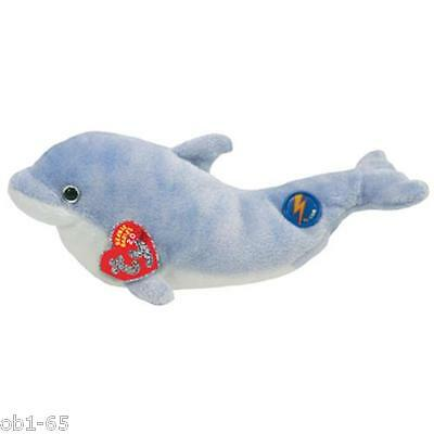 "Ty 2.0 Beanie Babies 8"" Clipper light blue Dolphin BABY Online sealed tag"
