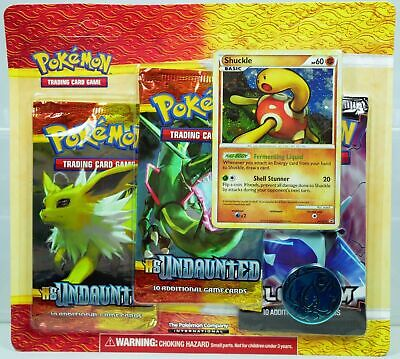 Pokemon Heart Gold Soul Silver HGSS Undaunted & Platinum 3 Pack Blister Shuckle