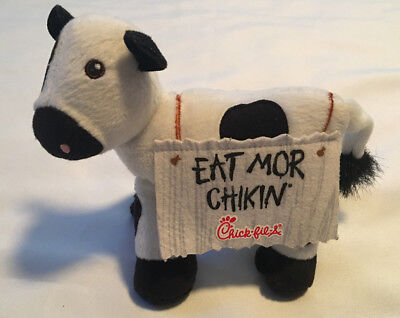 Chick Fil A Cow Plush Eat Mor Chikin Sign More Chicken Small Stuffed