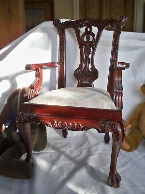 Chippendale Style Child's  Chair Perfect for Displaying Dolls & Teddy Bears