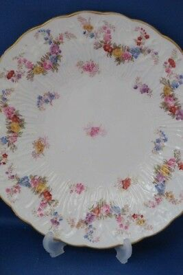 Two SPODE CHINA Antique Embossed Decorated Tea Plates