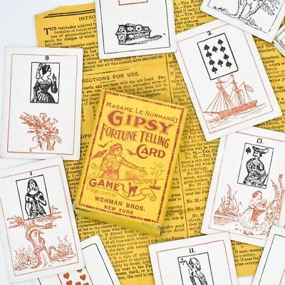 Antique Lenormand Cards: Madame Le Normand's Gipsy Fortune Telling Card Game