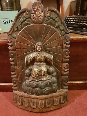 STUNNING ANTIQUE 19th CENTURY FRENCH RELIGIOUS ICON PANEL SUPERB RARE EXAMPLE