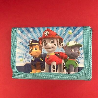 New PAW PATROL Childs Wallet Tri-Fold coin purse Marshall Chase Rocky Quick Ship