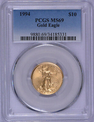 1994 $10 American Gold Eagle 1/4 oz  PCGS MS69 Hard to find!