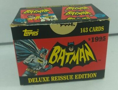 1989 Batman Deluxe 1966 Reissue Edition Card Set 143 Cards