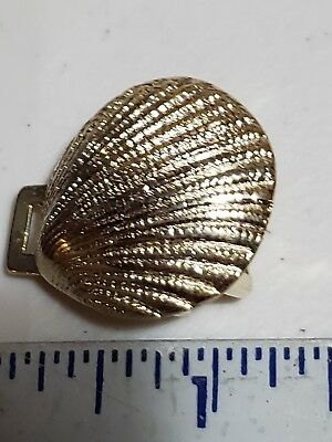 Lot Of Shell Shape Hardware - Gold Color - White Metal 3/4""