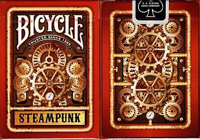 Steampunk Red Bicycle Playing Cards Poker Size Deck USPCC Custom Limited Sealed