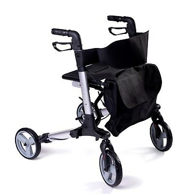Speedcare folding lightweight 4 wheeled rollator walker walking frame with seat