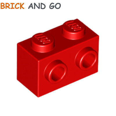 4 x LEGO 11211 Brique 2 Tenons rouge red Brick 1x2 2 Studs On Side NEUF NEW