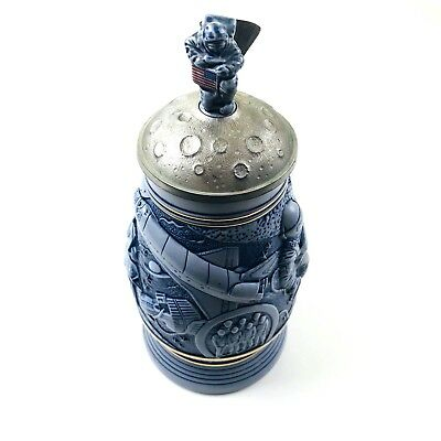 Avon 1991 Conquest of Space Lidded Ceramic Stein Collectible #186372