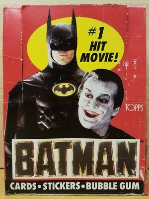 Batman Movie Trading Cards & Stickers Box Series 1 -36 Count with Poster Ad