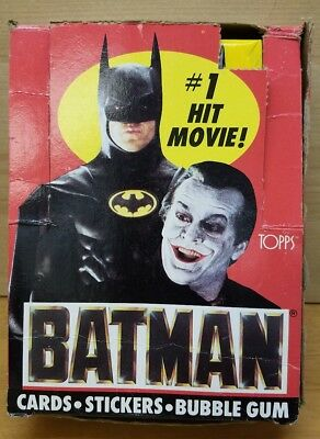Batman Movie Trading Cards & Stickers Box Series 1 -35 Count with Poster Ad