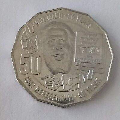 2017 Eddie Mabo Pride and Passion 50 Cents UNC Coin Ex RAM Mint Bag