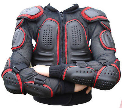 Red/black Mens Spine Guard Ce Body Armour Motorbike Motorcycle Protection Jacket