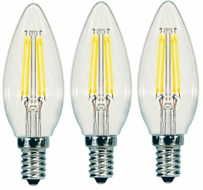 4-pack , lot of 2 boxes of 2 Sunbeam 40W LED Dimmable Candelabra Light Bulbs 4