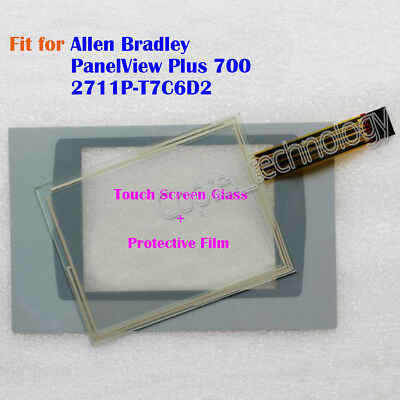 New for Allen Bradley PanelView Plus 700 2711P-T7C6D2 Touch Screen Glass + Film