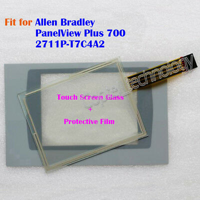 New for Allen Bradley PanelView Plus 700 2711P-T7C4A2 Touch Screen Glass + Film