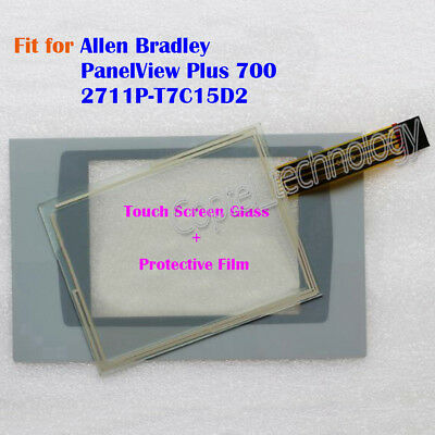 New for Allen Bradley PanelView Plus 700 2711P-T7C15D2 Touch Screen Glass + Film