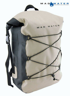 Mad Water – Classic Roll Top Waterproof Backpack 30L Khaki M43104 Dry Pack