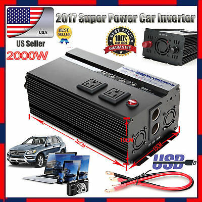 Car Caravan 2000W/4000W Power Inverter Converter Invertor DC 12V to AC 110V 120V