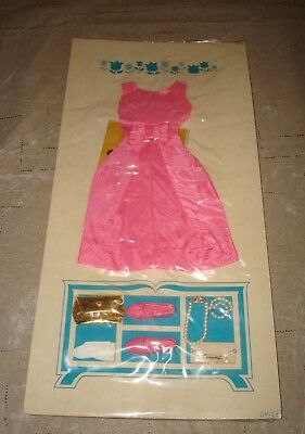 New 1963 Remco Judy Littlechap Pink Party Dress #1110 Vtg Doll Outfit Gloves Bag