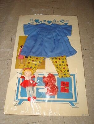 New 1963 Remco Libby Littlechap 2 Piece Pajama Pant Top Toy Doll Mules Diary Vtg
