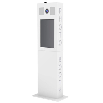 "Versa Tower Booth Photo Booth Shell Only, Fits 21.5"" LED Touch Screen - White"