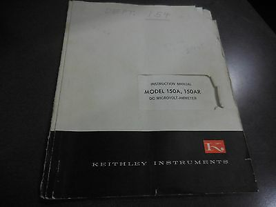 Keithley Instruction Manual For Models 150A,150AR DC Microvolt-Ammeter